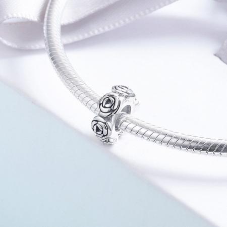 Talisman argint cu trandafiri4