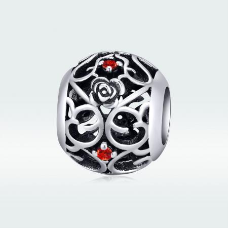 Talisman argint cu trandafiri si zirconii [4]