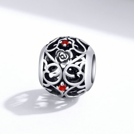 Talisman argint cu trandafiri si zirconii [2]
