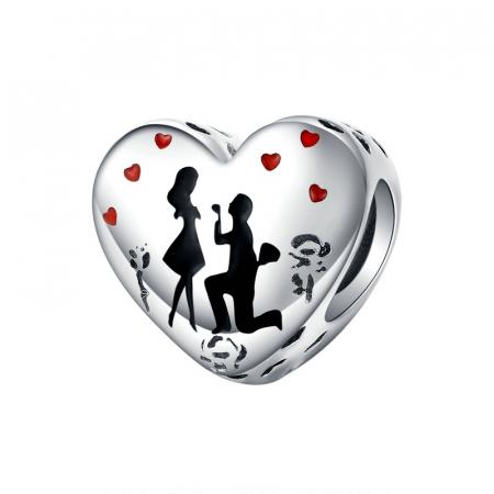 Talisman argint inima Cerere in Casatorie