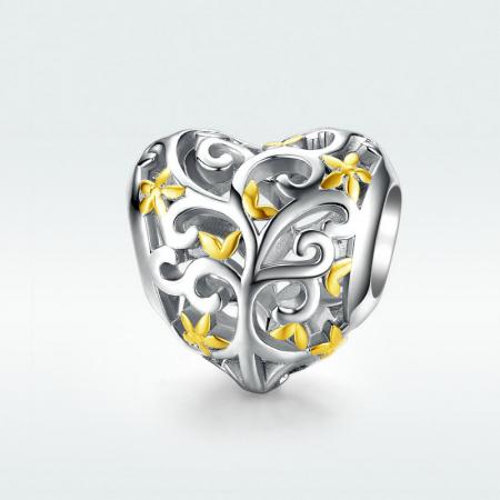 Talisman argint inima cu Copacul Vietii4