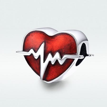 Talisman argint inima cu puls [5]