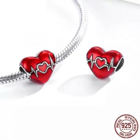 Talisman argint inima cu puls2
