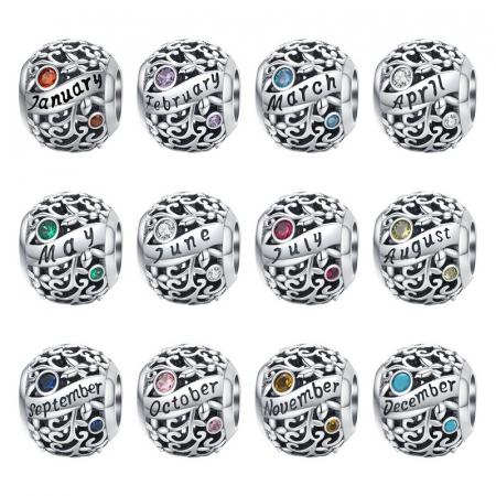 Talisman argint luna Aprilie cu zirconiu5