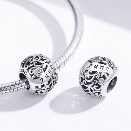 Talisman argint luna Iunie cu zirconiu [2]
