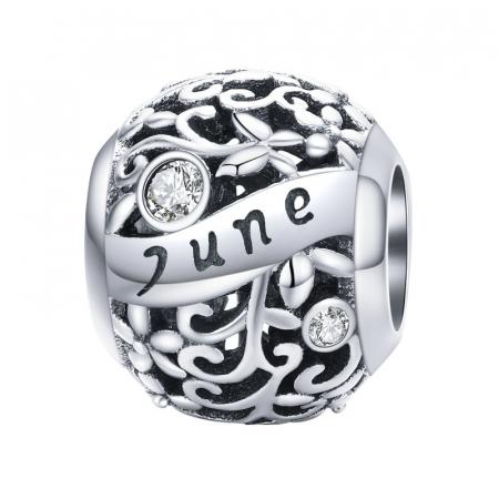 Talisman argint luna Iunie cu zirconiu