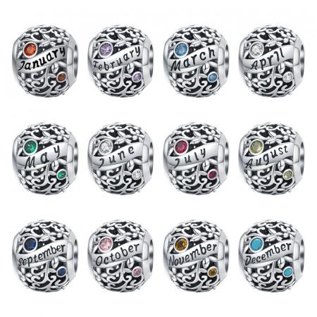Talisman argint luna Septembrie cu zirconiu [5]