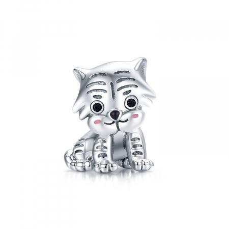 Talisman argint pui de tigru