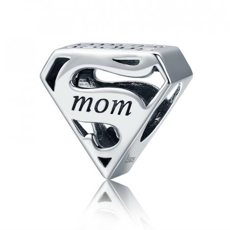 Talisman argint Super Mom