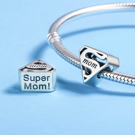 Talisman argint Super Mom3