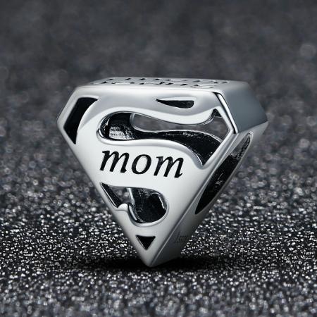Talisman argint Super Mom1