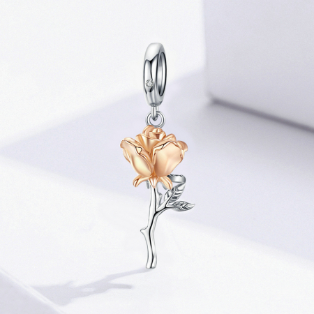 Talisman argint trandafir 3D2