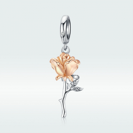 Talisman argint trandafir 3D4
