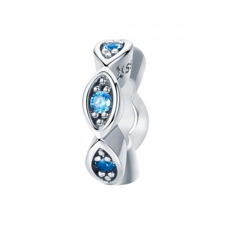Talisman din argint cu cristale albastre