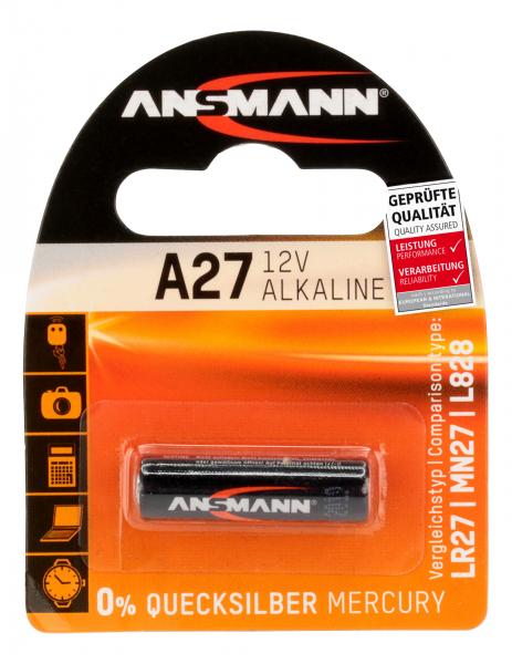 Baterie alcalina A27 ANSMANN [0]