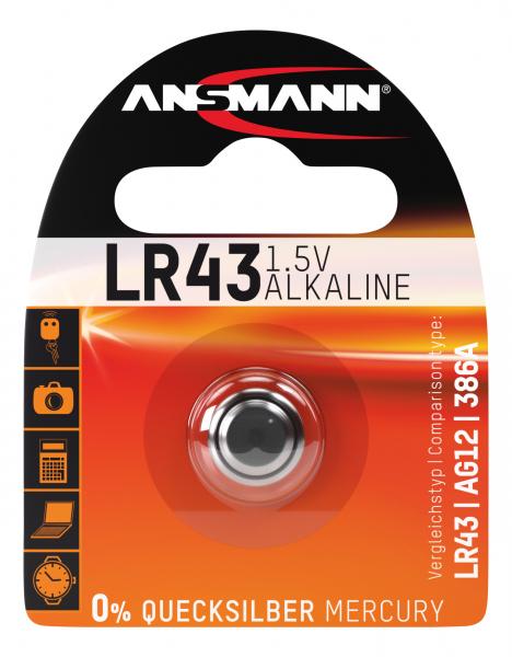 Baterie alcalina LR43 ANSMANN [0]