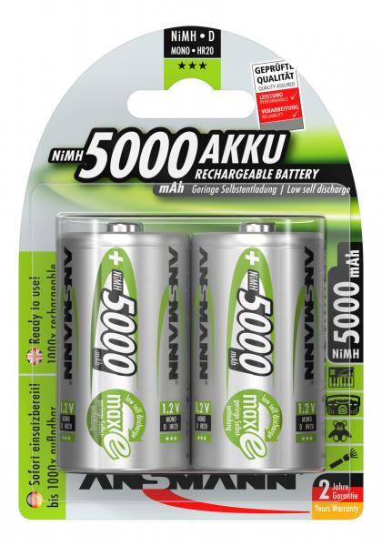 Acumulatori D R20 5000mAh blister 2 bucati ANSMANN [0]