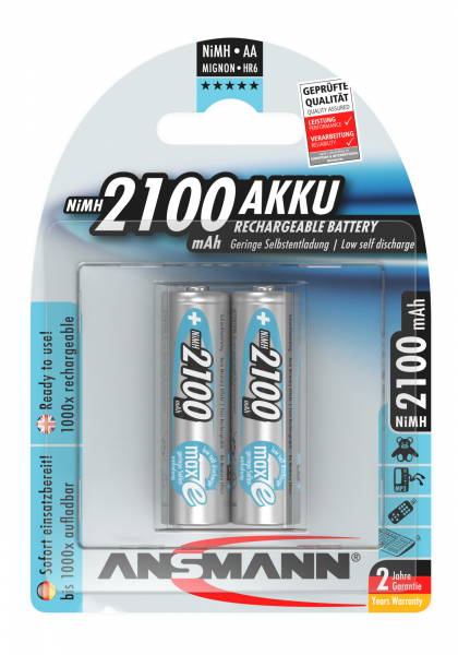 Acumulatori preincarcati AA R6 2100mAh blister 2 bucati ANSMANN [0]