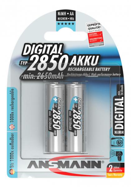 Acumulatori AA R6 2850mAh blister 2 bucati ANSMANN [0]