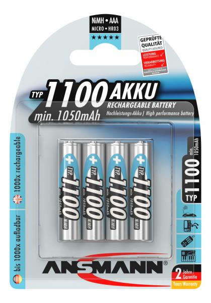 Acumulatori AAA R3 1100mAh blister 4 bucati ANSMANN [0]
