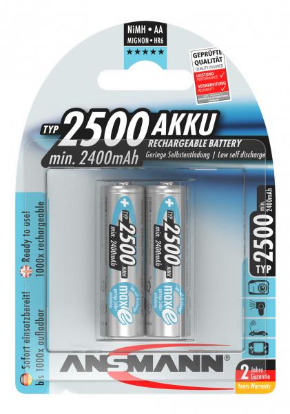 Acumulatori preincarcati AA R6 2500mAh blister 2 bucati ANSMANN [0]
