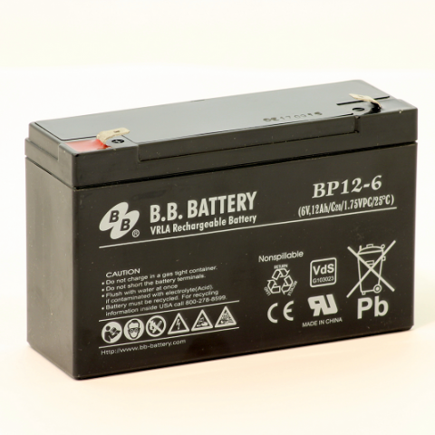 Acumulator stationar plumb acid BB BATTERY 6V 12Ah AGM VRLA [0]