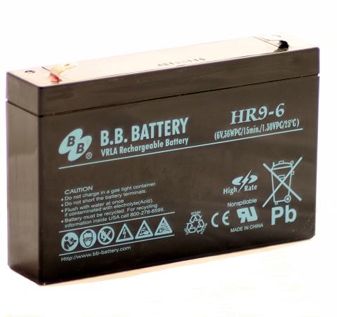 Acumulator stationar plumb acid BB BATTERY 6V 9Ah AGM VRLA [0]