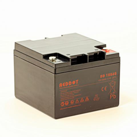 Acumulator stationar plumb acid REDDOT 12V 26Ah AGM VRLA [0]
