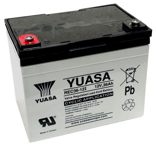 Acumulator stationar plumb acid YUASA 12V 36Ah AGM VRLA Deep Cycle [1]