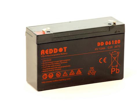 Acumulator stationar plumb acid REDDOT 6V 12Ah AGM VRLA [0]