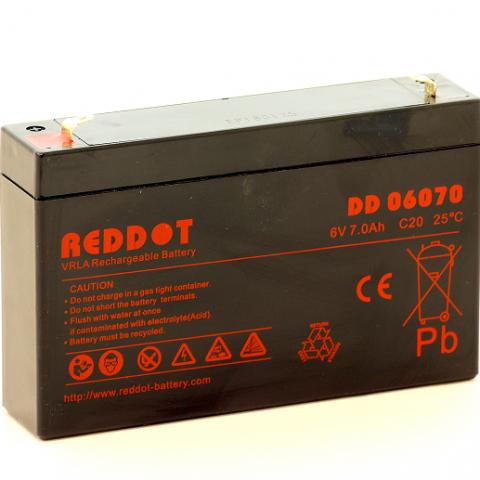 Acumulator stationar plumb acid REDDOT 6V 7Ah AGM VRLA [0]