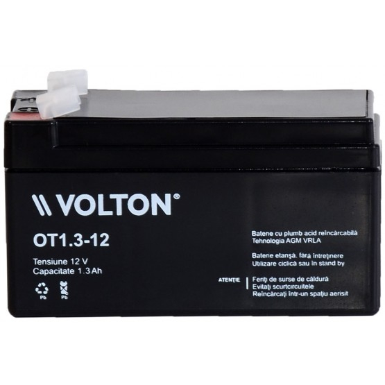 Acumulator stationar plumb acid VOLTON 12V 1.3Ah AGM VRLA [1]