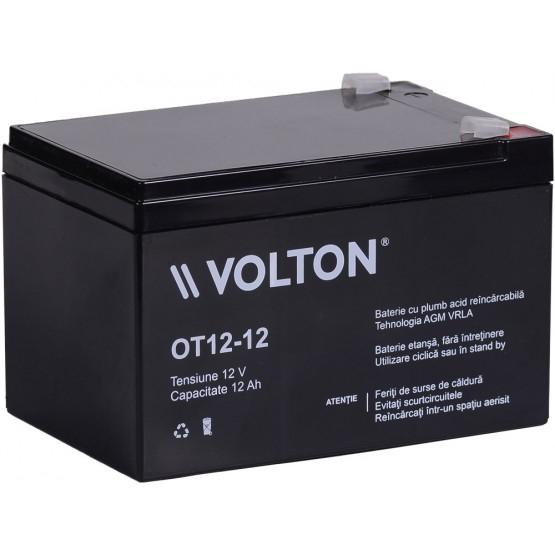 Acumulator stationar plumb acid VOLTON 12V 12Ah AGM VRLA [0]