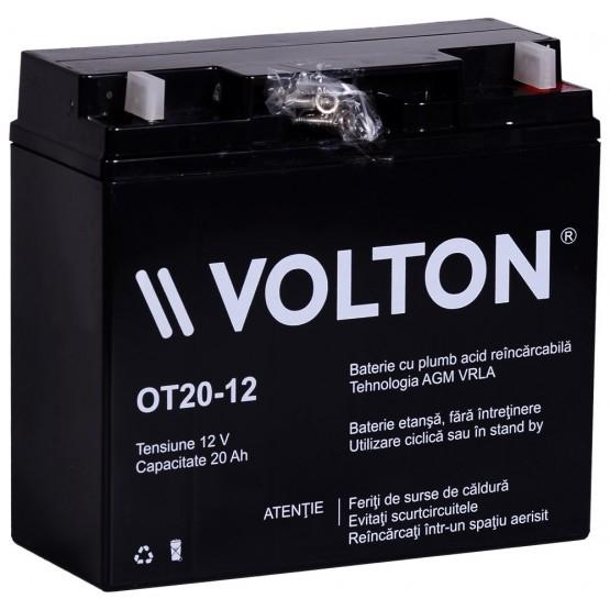 Acumulator stationar plumb acid VOLTON 12V 20Ah AGM VRLA [0]