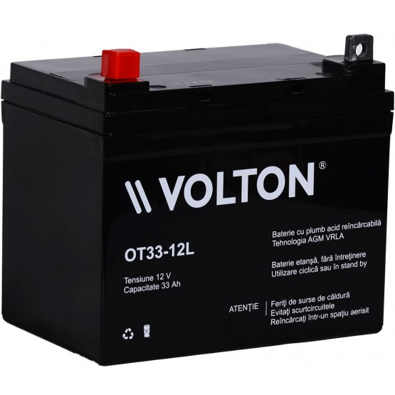 Acumulator stationar plumb acid VOLTON 12V 33Ah AGM VRLA [0]