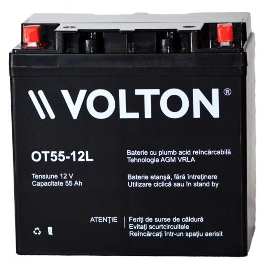 Acumulator stationar plumb acid VOLTON 12V 55Ah AGM VRLA [1]