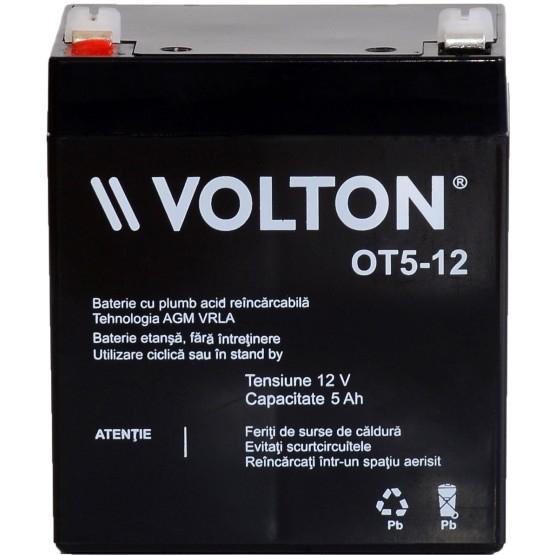 Acumulator stationar plumb acid VOLTON 12V 5Ah AGM VRLA [1]