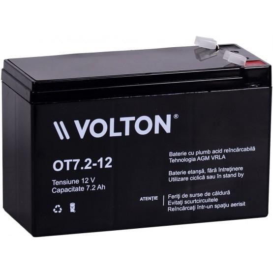 Acumulator stationar plumb acid VOLTON 12V 7.2Ah AGM VRLA [0]