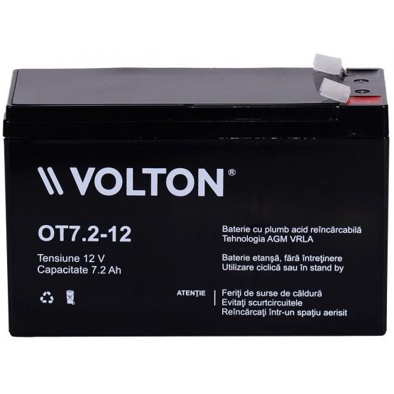 Acumulator stationar plumb acid VOLTON 12V 7.2Ah AGM VRLA [1]