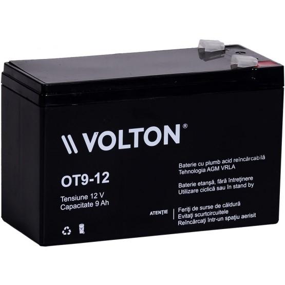 Acumulator stationar plumb acid VOLTON 12V 9Ah AGM VRLA [0]