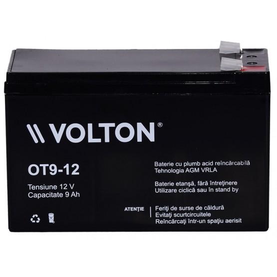 Acumulator stationar plumb acid VOLTON 12V 9Ah AGM VRLA [1]