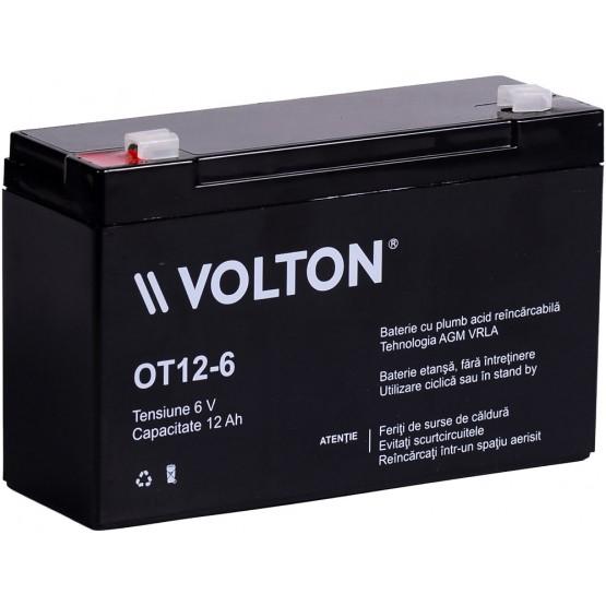 Acumulator stationar plumb acid VOLTON 6V 12Ah AGM VRLA [0]