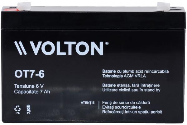Acumulator stationar plumb acid VOLTON 6V 7Ah AGM VRLA [1]