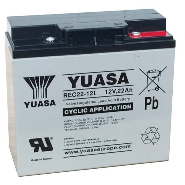 Acumulator stationar plumb acid YUASA 12V 22Ah AGM VRLA Deep Cycle [0]