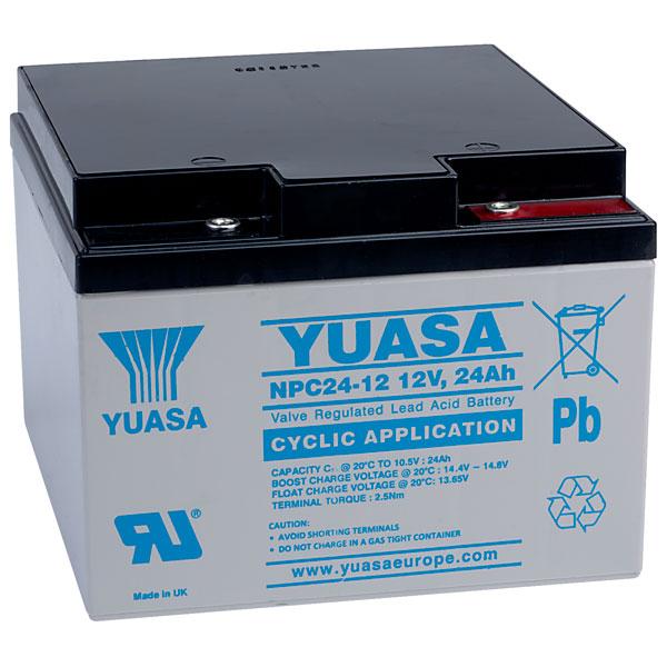 Acumulator stationar plumb acid YUASA 12V 24Ah AGM VRLA Deep Cycle [0]