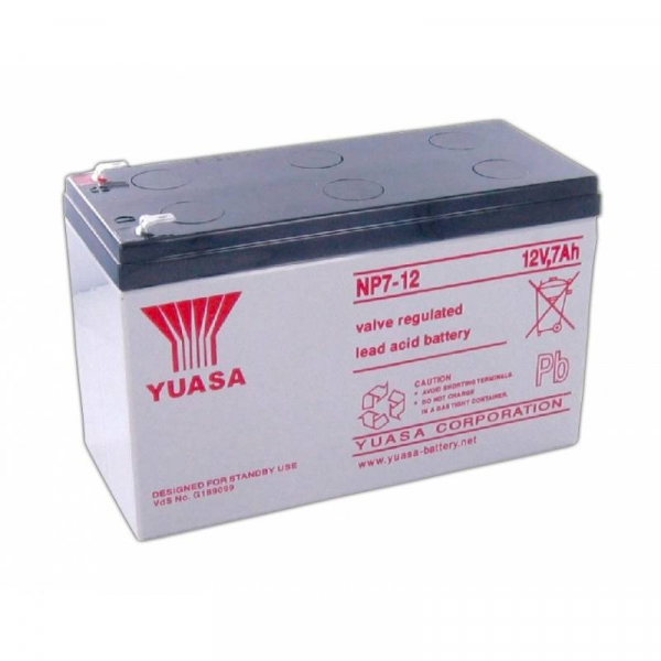 Acumulator stationar plumb acid YUASA 12V 7Ah T1 AGM VRLA [1]