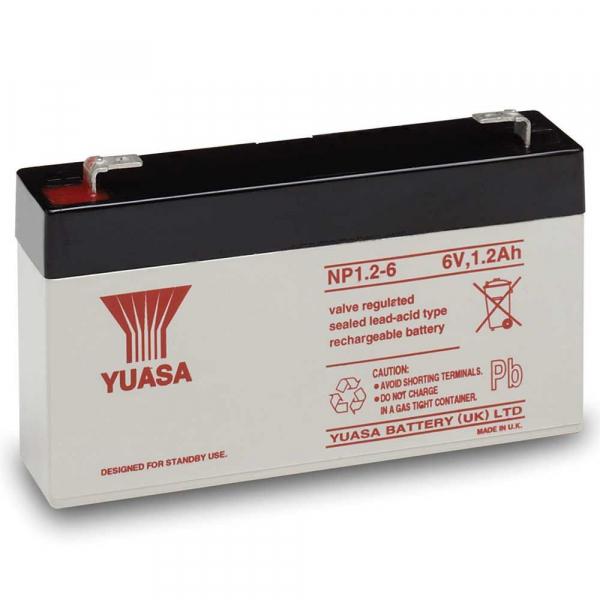 Acumulator stationar plumb acid YUASA 6V 1.2Ah AGM VRLA [0]