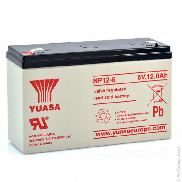 Acumulator stationar plumb acid YUASA 6V 12Ah AGM VRLA [0]