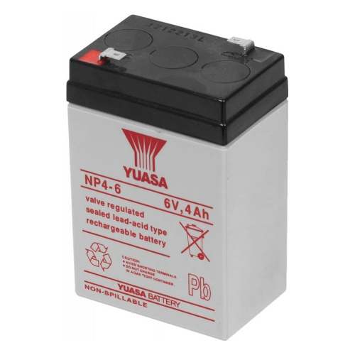 Acumulator stationar plumb acid YUASA 6V 4Ah AGM VRLA [0]
