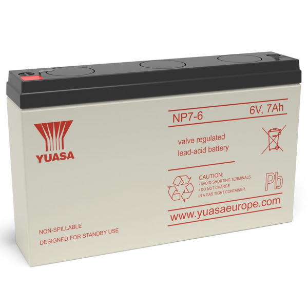 Acumulator stationar plumb acid YUASA 6V 7Ah AGM VRLA [0]